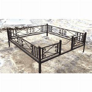 Ограда для могилы - Крест, арт. ОГ043