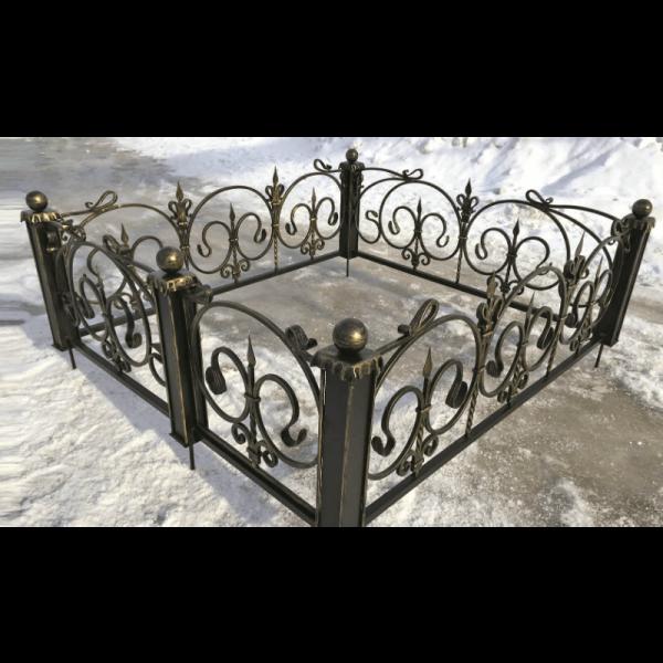 Ограда для могилы - Ода, арт. ОГ082