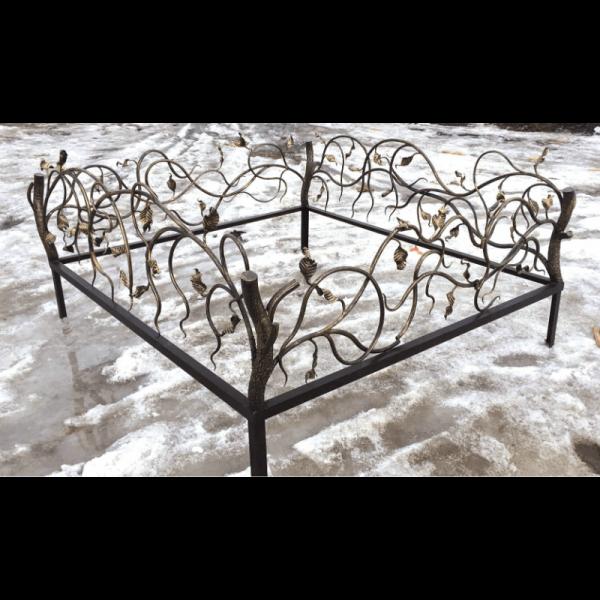 Ограда для могилы - Осень, арт. ОГ090