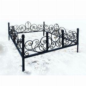 Ограда для могилы - Роза Элит, арт. ОГ078