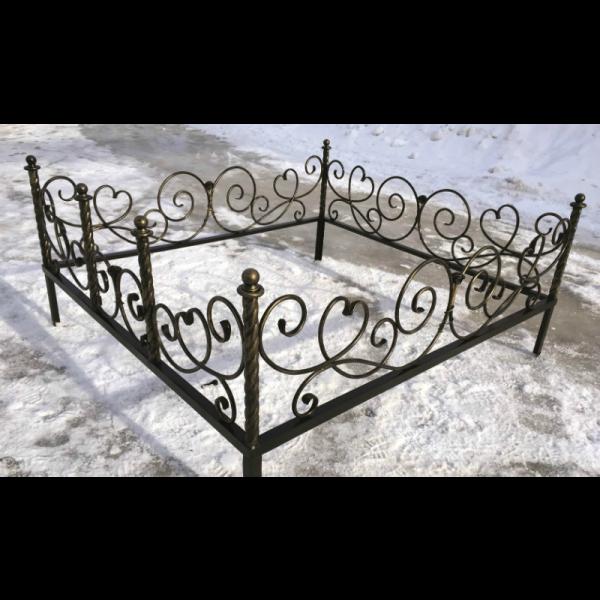 Ограда для могилы - Роза, арт. ОГ076