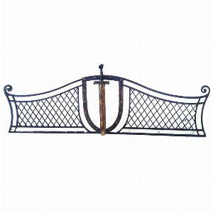 Ограда для могилы - Щит и меч, арт. ОГ093