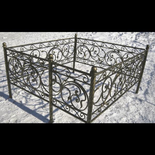 Ограда для могилы - Селена (витая), арт. ОГ088