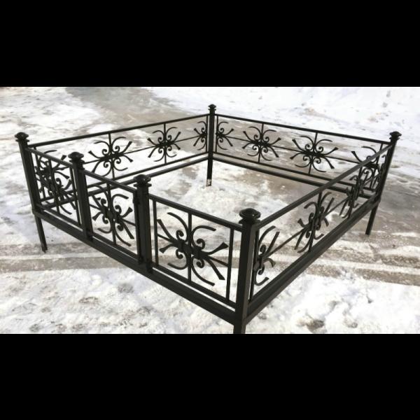 Ограда для могилы - Снежинка, арт. ОГ065