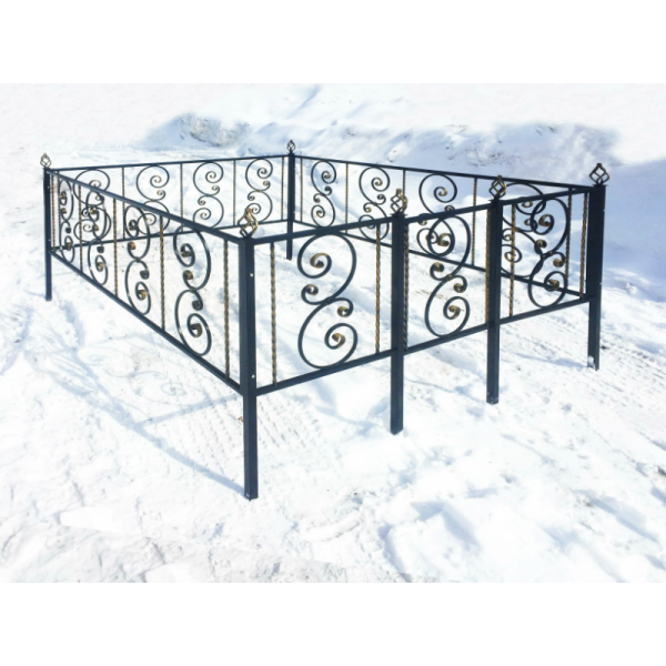 Ограда для могилы - Вензель, арт. ОГ060
