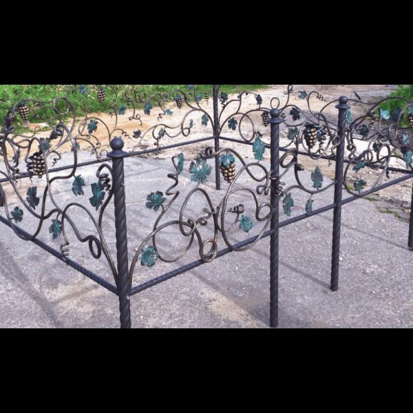 Ограда для могилы - Виноградная лоза, арт. ОГ089