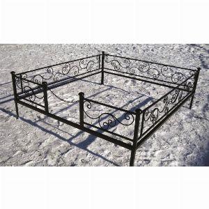 Ограда для могилы - Волна, арт. ОГ003