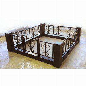 Ограда с гранитом - Комплекс Лира