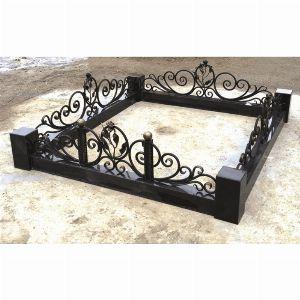 Ограда с гранитом - Комплекс Роза Элит малая