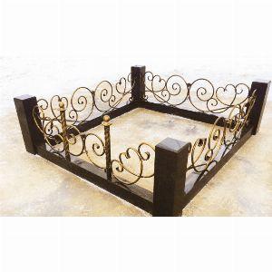 Ограда с гранитом - Комплекс Роза