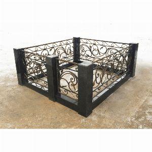 Ограда с гранитом - Комплекс Селена