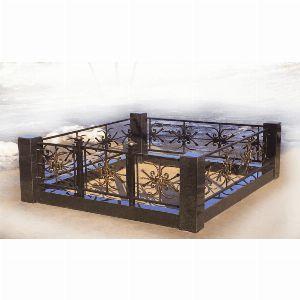 Ограда с гранитом - Комплекс Снежинка
