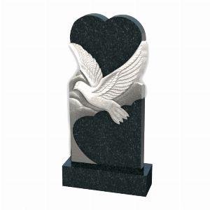 Памятник сердце с голубем - К1021