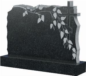Памятник с деревом и крестом, арт. Д0006
