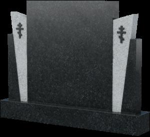 Горизонтальная стела из натурального камня, арт. K019