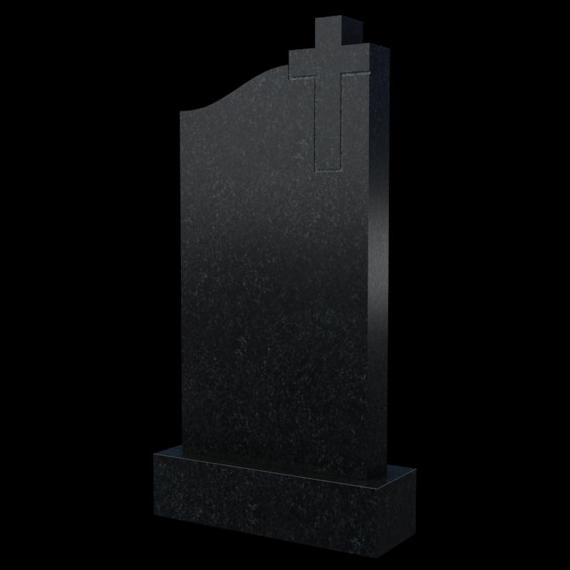 Фигурный памятник с крестом, арт. П047