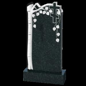 Обелиск на могилу из черного гранита, арт. П118