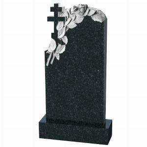 Ритуальный памятник с крестом и розами, арт. П120