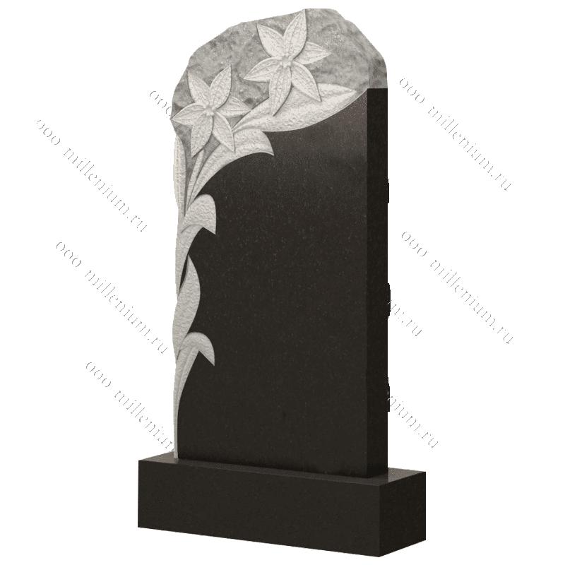 Вертикальный обелиск на могилу, арт. П239