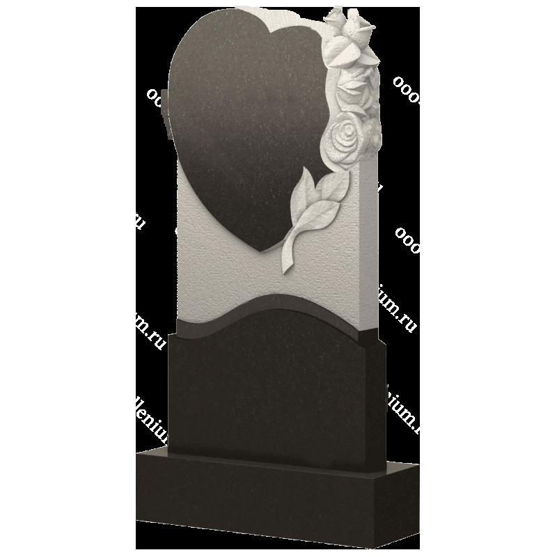 Памятник сердце с цветами, арт. П254