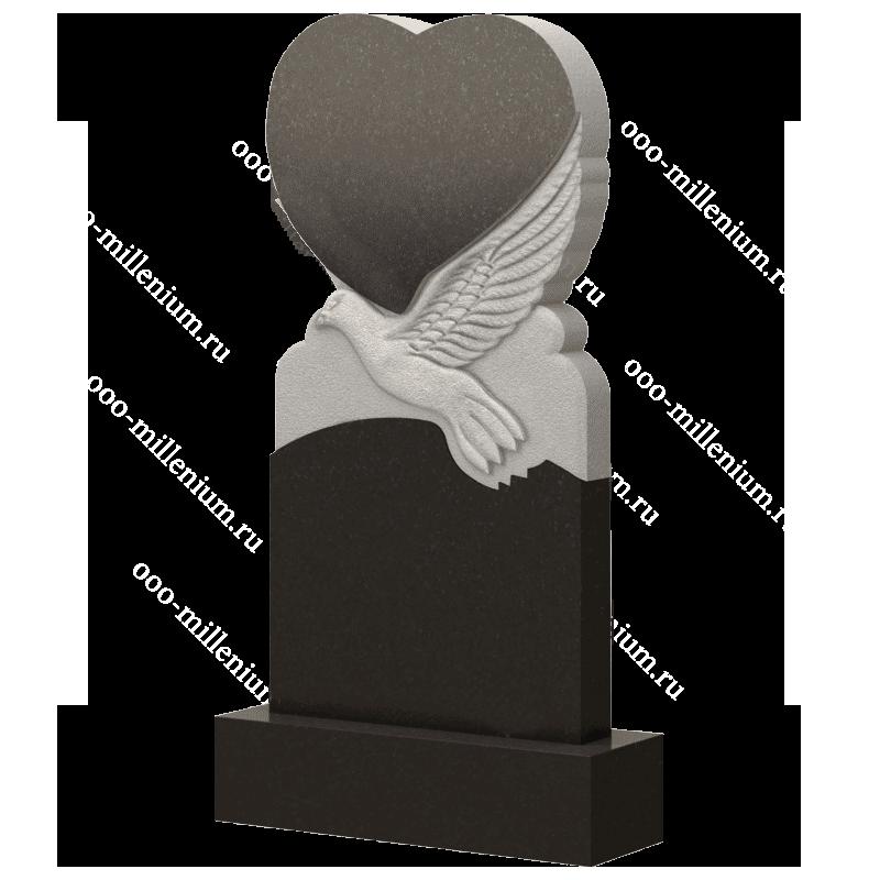 Памятник сердце с голубем, арт. П255