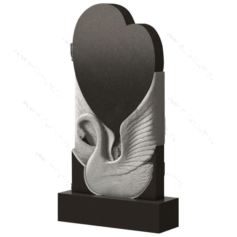 Памятник лебедь с сердцем, арт. П257