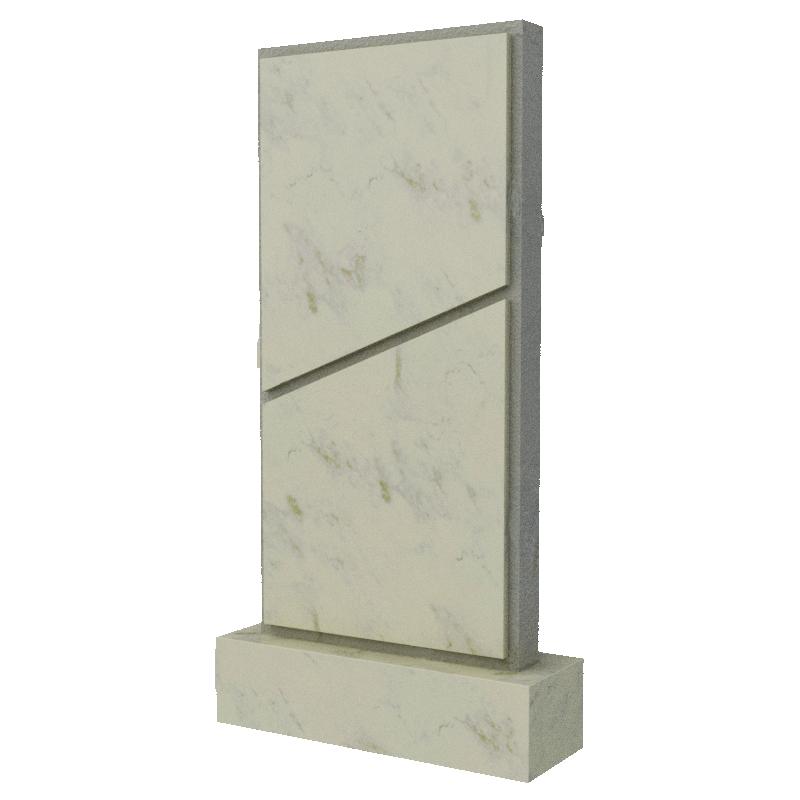 Вертикальное надгробие из натурального мрамора, арт. ПМ332