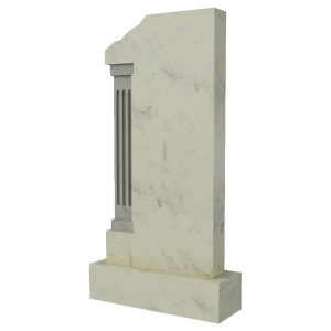 Вертикальная стела из мрамора, арт. ПМ333