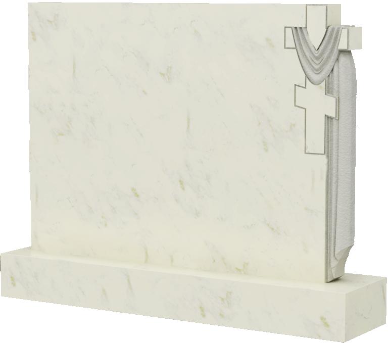Мраморная горизонтальная стела, арт. ПМ040