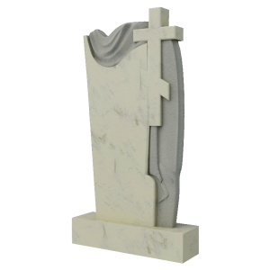 Крест из мрамора, арт. ПМ606