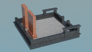 Создание макета мемориального комплекса