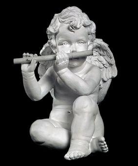 Скульптура - Ангел с дудкой, арт. 003