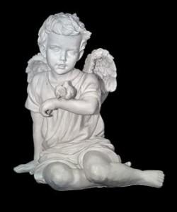 Скульптура - Ангел с воробышком, арт. 005