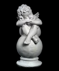 Скульптура - Ангел на шаре, арт. 011