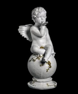 Скульптура - Ангел на шаре с листочками, арт. 012