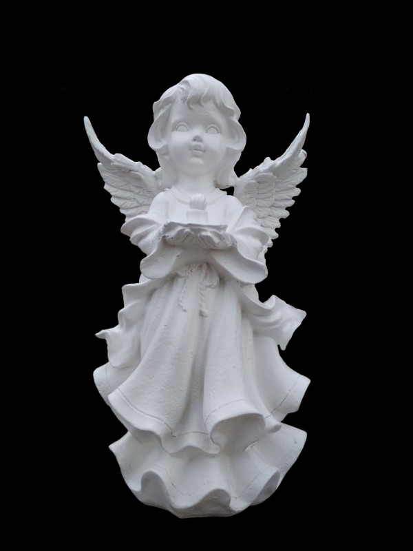 Скульптура - Ангел со свечой, арт. 052